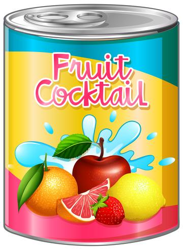Fruit cocktail in aluminum can