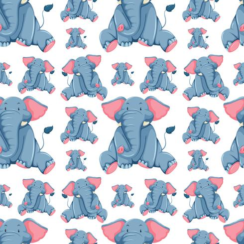 Nahtloses Hintergrunddesign mit Elefanten
