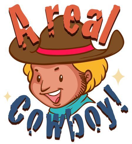 Verklig cowboy med text