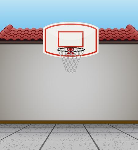 Objetivo do basquete no telhado