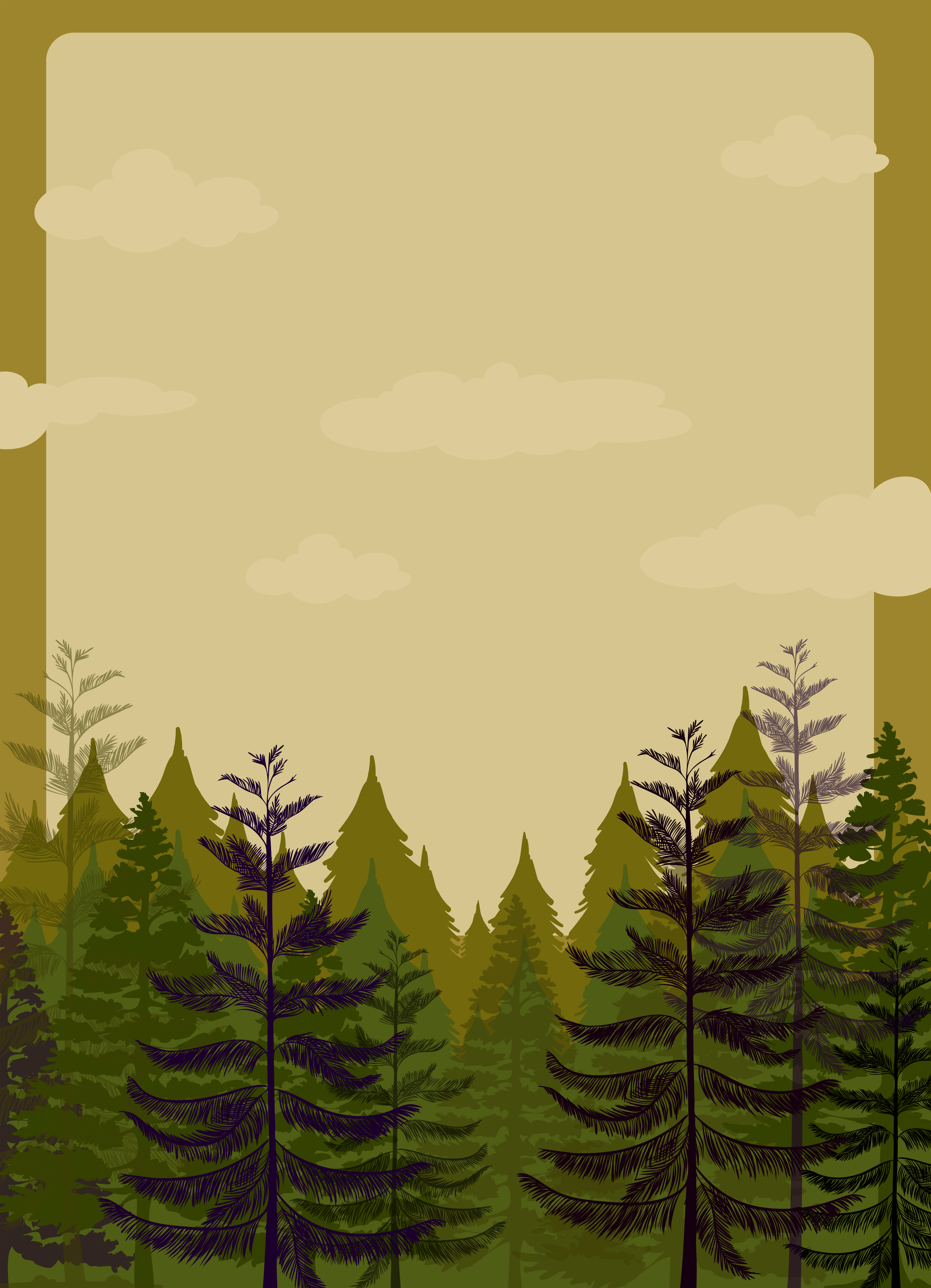 Border design with pine forest - Download Free Vector Art ... | 3988 x 5516 jpeg 6462kB