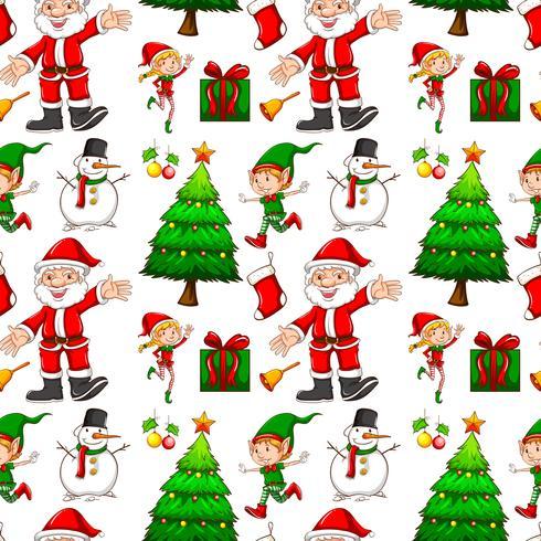 Fond transparent avec elf et santa
