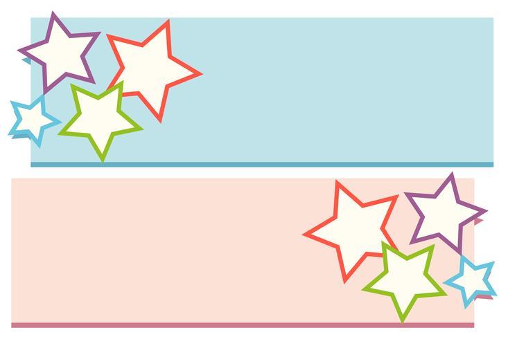 Lable design com estrelas