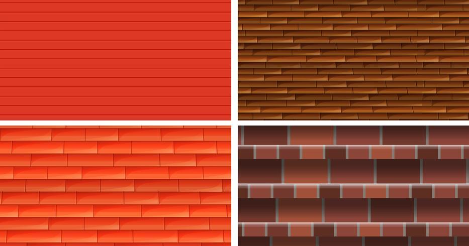 Quatro diferentes origens de textura