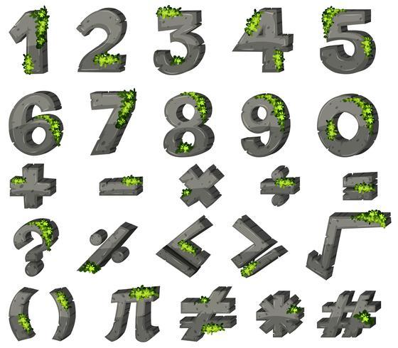 Conception des polices pour les chiffres et les signes
