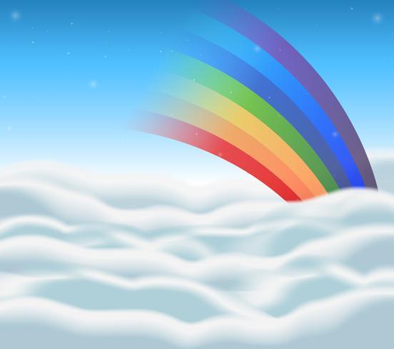Design de plano de fundo com arco-íris no céu