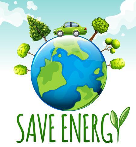 Ahorre energía con el coche y los árboles.