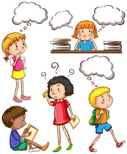Enfants avec des pensées vides