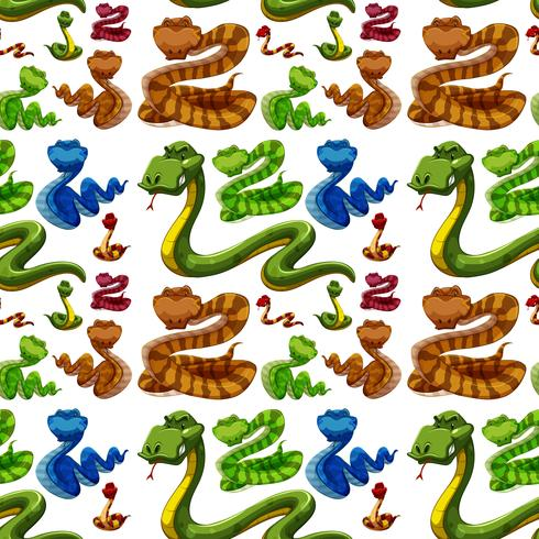 Naadloze achtergrond met wilde slangen