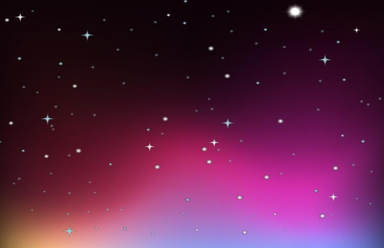 Background design with stars on purple sky