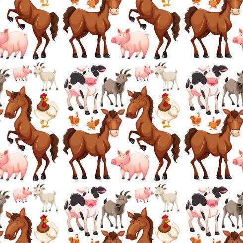 Nahtloser Hintergrund mit Vieh