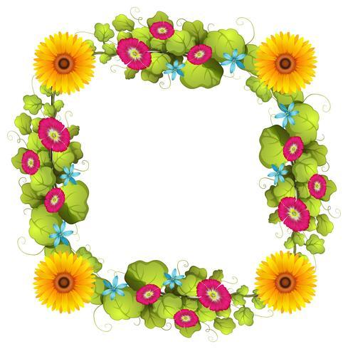 Ein florales Bordürenmuster