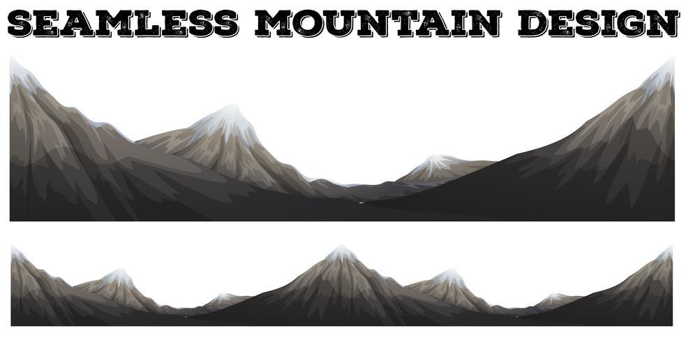 Naadloze berg met sneeuwpiek
