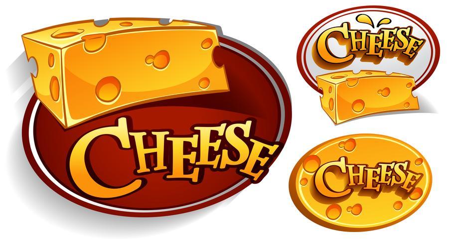 Projetos de logotipo com queijo