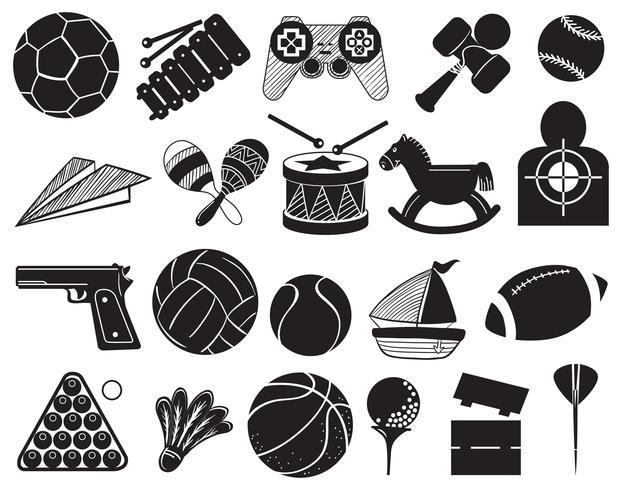 Doodle diseño de los diferentes juguetes.
