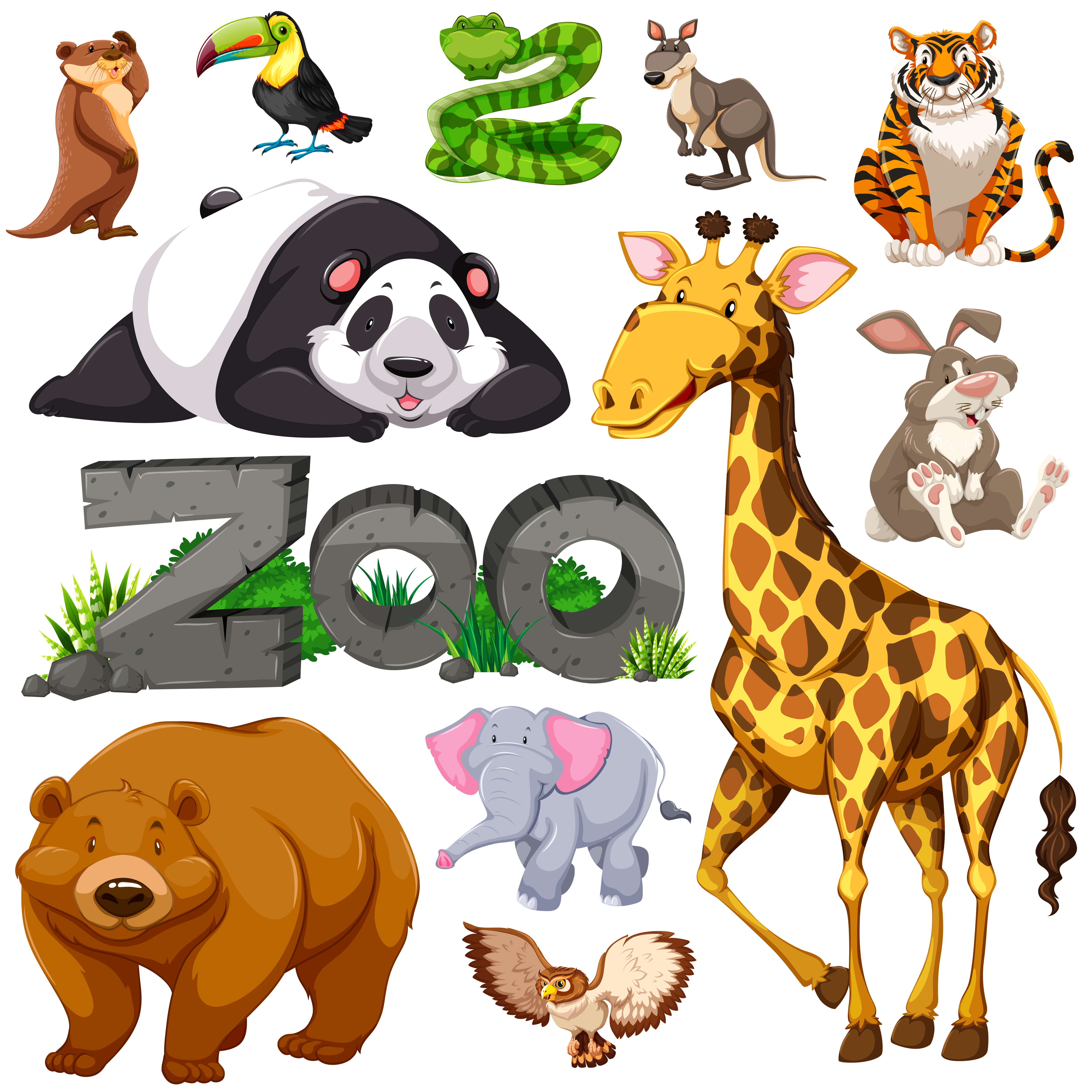 Zoo and different types of wild animals Download Free