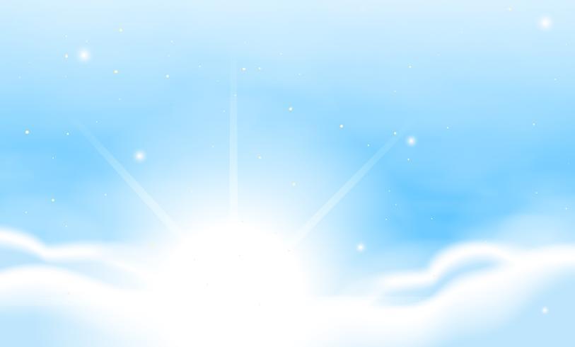 Escena de fondo con cielo azul