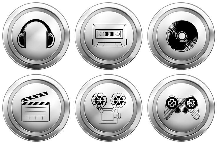 Diseño de iconos para equipos de entretenimiento.
