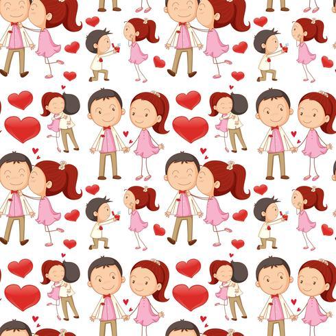 Casal Sem Emenda Beijando E Abracando Download Vetores Gratis