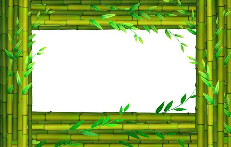Border design with bamboo sticks