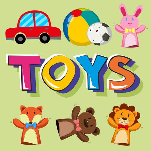 Poster design for toys vector