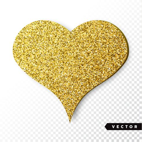 Gold funkelt Herz