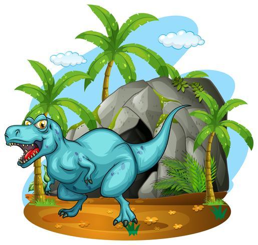 Dinosaurier, der in der Höhle lebt