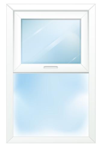 En dörr med fönster