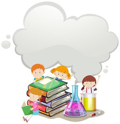 Crianças e laboratório de ciências