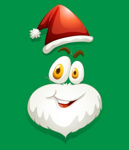 Santa faccia sul verde