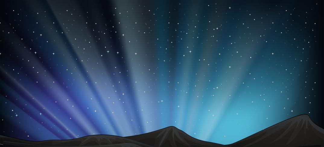 Achtergrondscène met berg bij nacht