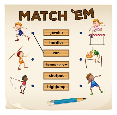 Matching game for sports