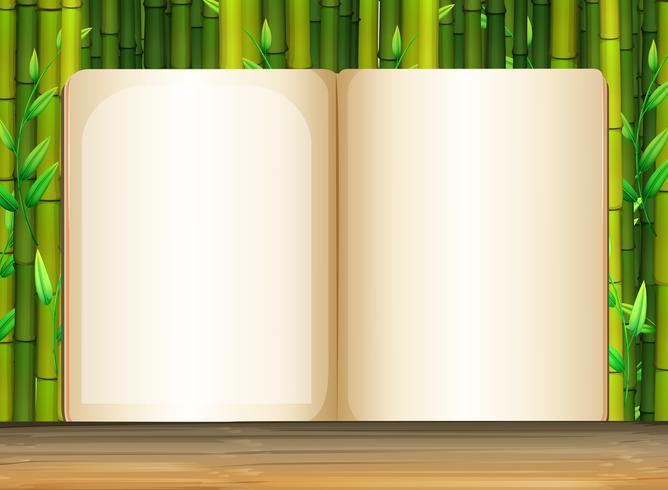Modèle de fond avec du bambou vecteur