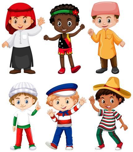 Unterschiedliche Nationalitäten der Jungen