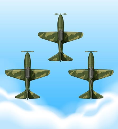 Vliegtuigen vliegen in de lucht vector