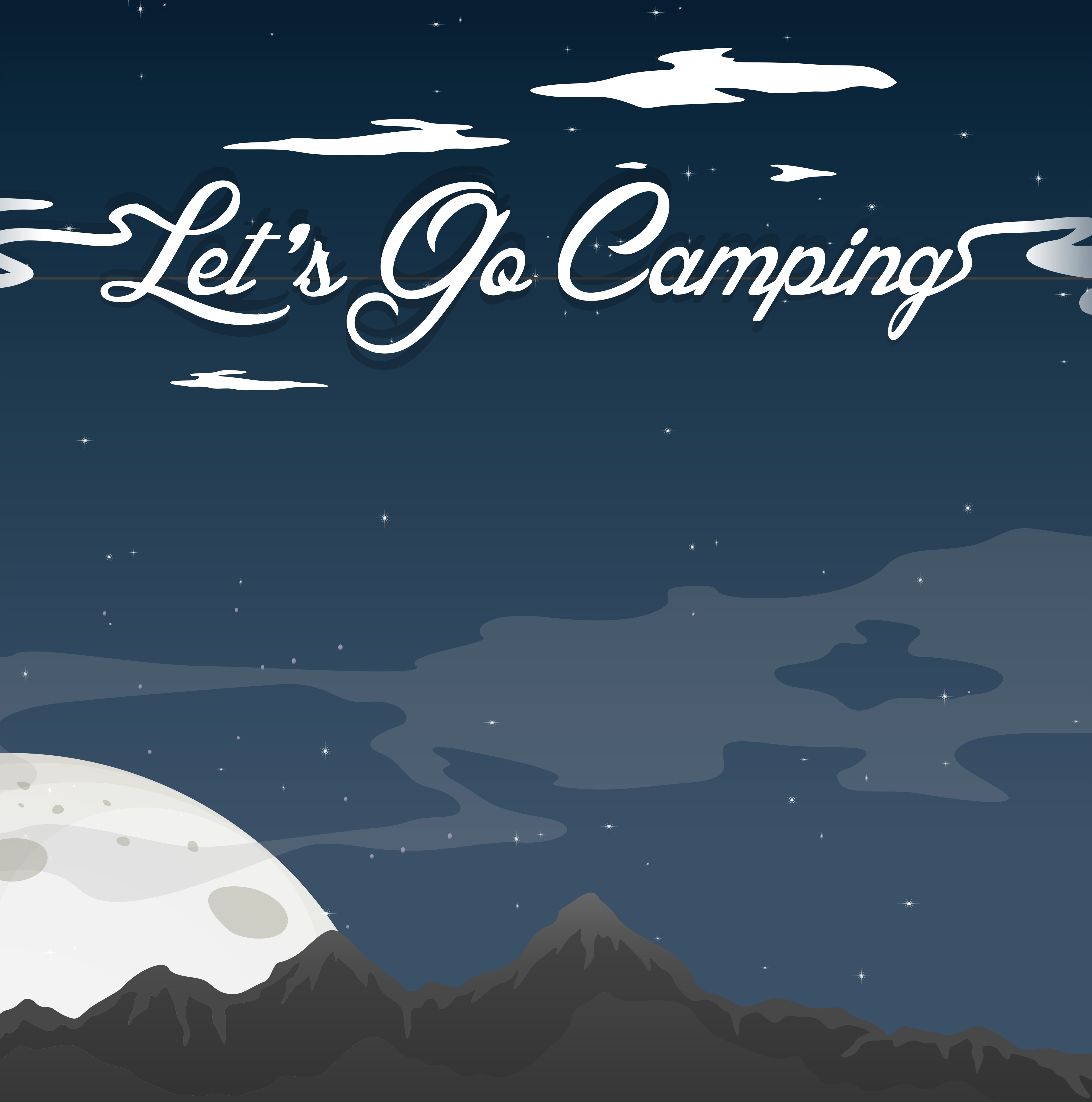 Camping At Night Clear Blue Sky - Download Free Vectors ...