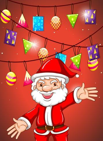 Jul tema med Santa och ornament