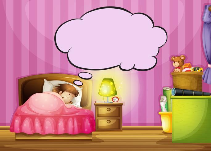 Una ragazza addormentata e una nuvoletta scarica gratis arte
