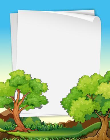 Papiers et arbres vecteur