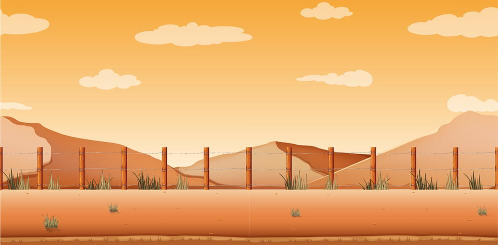 Escena con desierto y colinas