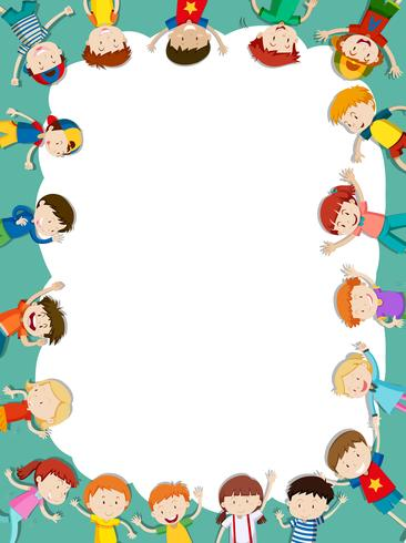 Border template with happy children in background - Download ...