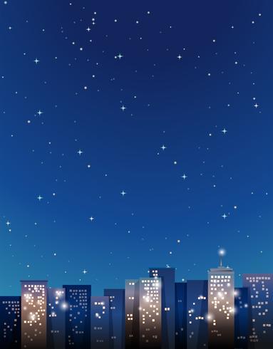 Gebäude in der Stadt bei Nacht