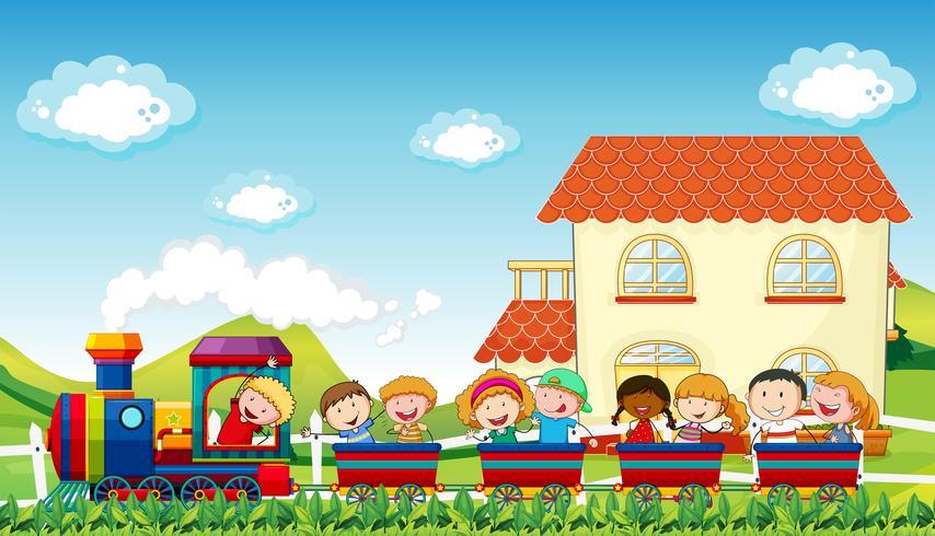 Kinderen en trainen vector