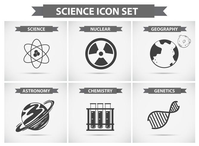 Wissenschaftssymbole für verschiedene Fachgebiete