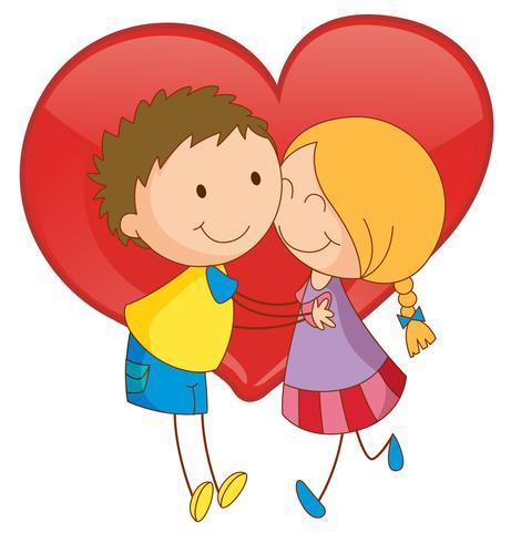 Casal e coração