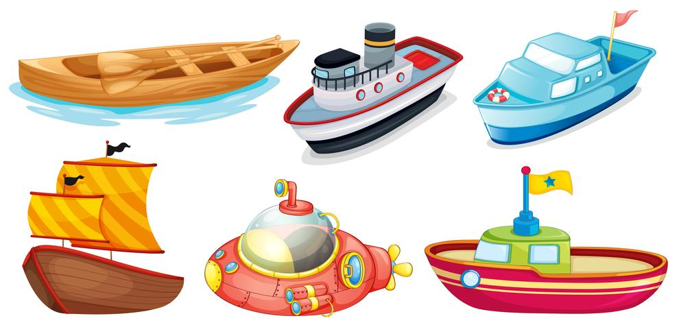 Verschillende bootontwerpen vector