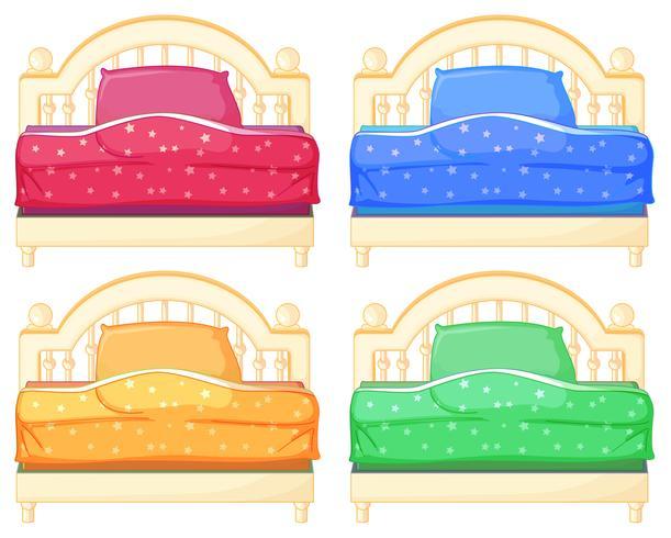 Bed set vector