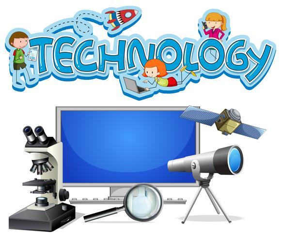 Een set van technologische apparatuur vector