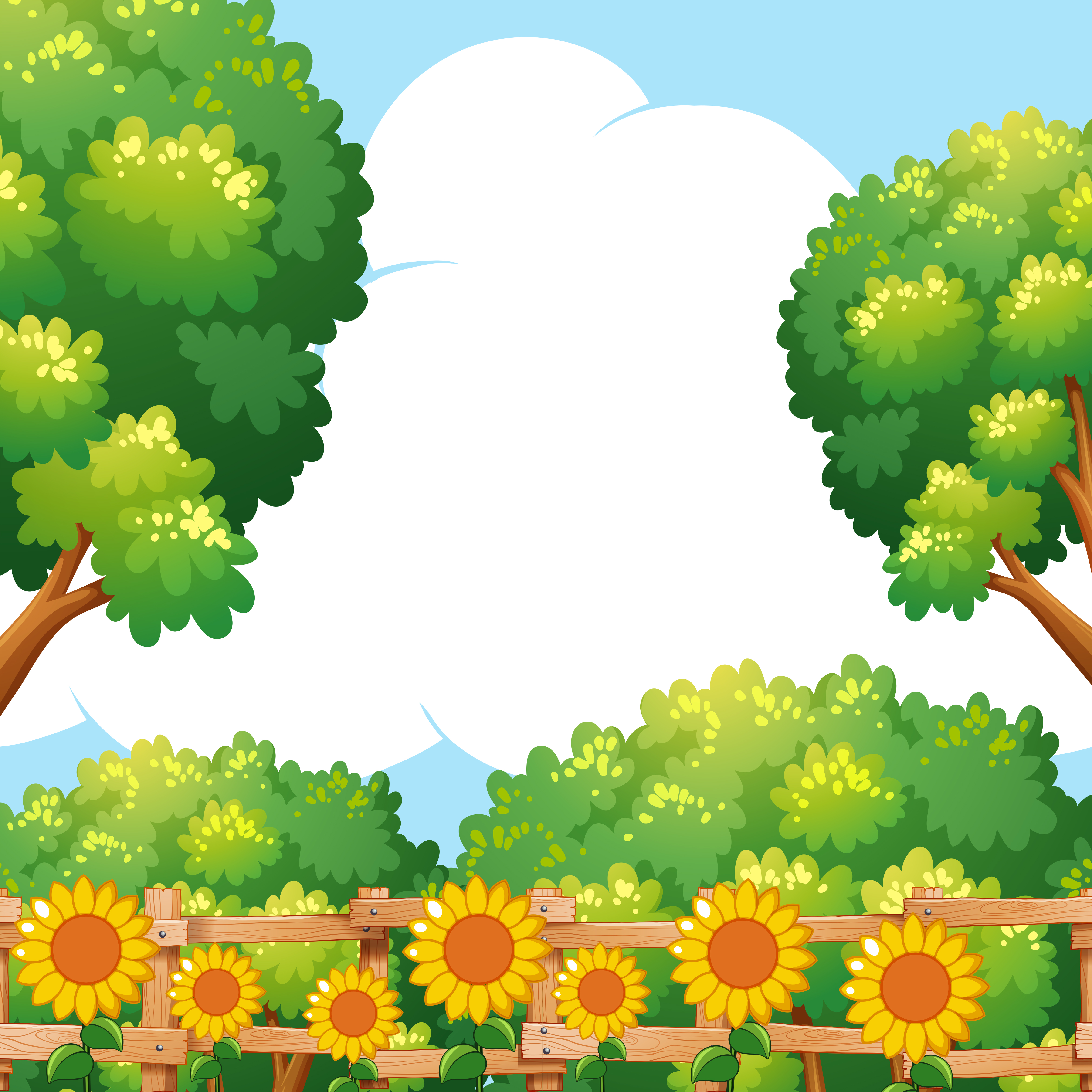 Background scene with sunflowers in garden - Download Free ...