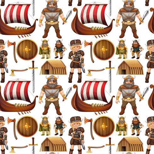 Gente e nave viking senza soluzione di continuità